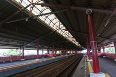 Empty station with many platforms photo taken in Jakarta Indonesia. Java royalty free stock photos