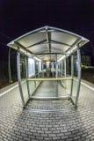 Empty station platform at night Stock Photo