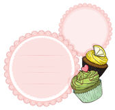 An empty stationery with cupcakes Royalty Free Stock Photo
