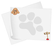 Empty stationery papers Stock Images
