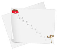 Empty stationery papers Stock Photos