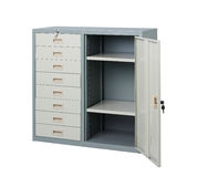 Empty Steel documents cabinet Stock Photography