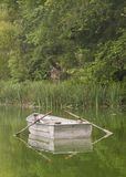 Empty Steel Rowboat Stock Image
