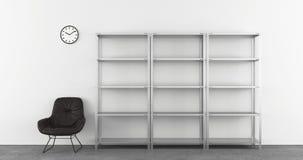 Empty steel shelfs Royalty Free Stock Image