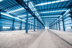 Empty steel structure building Royalty Free Stock Photo