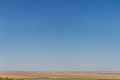 Empty steppe. Steppe horizon, air stock photos