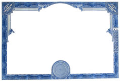 Empty Stock Certificate Stock Photos
