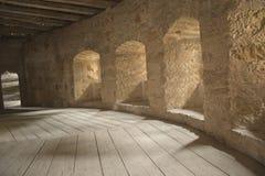 Empty stone corridors Stock Photography