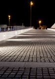 Empty stone pavement at night Stock Photography