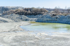 Empty stone pit Royalty Free Stock Photography