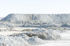 Empty stone pit Stock Images
