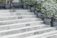 empty stone stairway Stock Photography