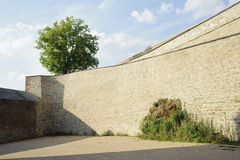 Empty stone wall in summer Stock Photos