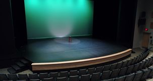 Empty stool kept on the stage 4k