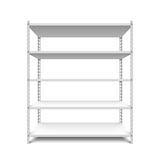 Empty storage shelf. Illustration on white Royalty Free Stock Photography