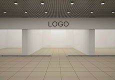 Empty store. With advertising signboard Royalty Free Stock Images