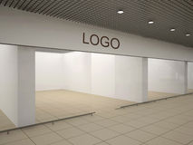 Empty store. With advertising signboard Royalty Free Stock Photo