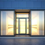 Empty store facade. Royalty Free Stock Image