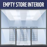 Empty store interior vector illustration