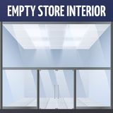 Empty store interior Royalty Free Stock Image