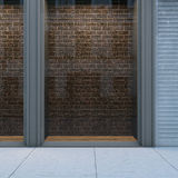Empty storefront with brickwall Royalty Free Stock Image