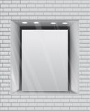 Empty storefront eps10 vector background Stock Photography