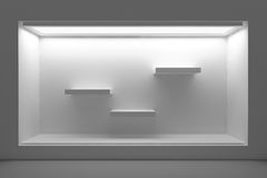 Free Empty Storefront Or Podium With Lighting And A Big Window. Stock Photos - 46917093