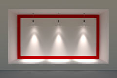 Free Empty Storefront Or Podium With Lighting And A Big Window. Royalty Free Stock Photos - 46917148