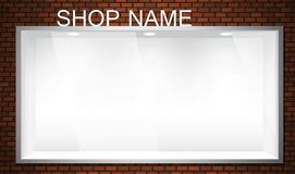 Empty storefront. Empty shop window showcase. EPS10 vector storefront Royalty Free Stock Images