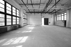 Empty storehouse Royalty Free Stock Photography
