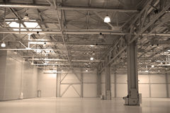 Empty storehouse Stock Photography