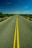 Empty straight line road Stock Photo