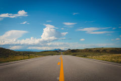 Empty Straight Road during Daytime Royalty Free Stock Photos