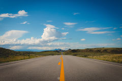 Empty Straight Road during Daytime Royalty Free Stock Photography