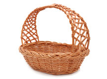 Empty straw basket Royalty Free Stock Photo