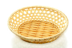 Empty straw basket Royalty Free Stock Photography