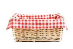 Empty straw basket isolated. stock images