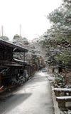 Empty street. An empty street in japan gifu prefecture stock photography