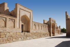 Empty street in ancient Khiva stock image