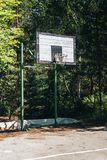 Empty street basketball court. For concepts such as sports and exercise, and healthy lifestyle. Empty street basketball court. For concepts such as sports and stock images