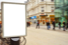 Empty street billboard in motion blur Royalty Free Stock Photo