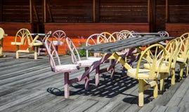 Empty street cafe Royalty Free Stock Image