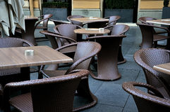 Empty street cafe Royalty Free Stock Photos