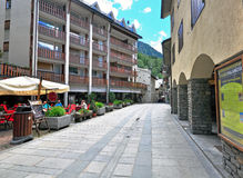 Empty street, Courmayeur Royalty Free Stock Photo