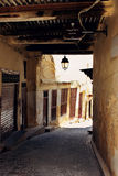Empty street in Fez, Morocco Royalty Free Stock Photography