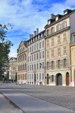 Empty street of Geneva city Royalty Free Stock Photos