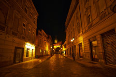 Empty Street Gy�r Stock Photos