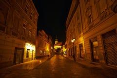 Empty Street Győr Stock Photos