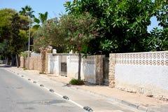 Empty street. La Zenia, Orihuela coast. Royalty Free Stock Image