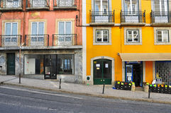 Empty street in Lisbon, Portugal Royalty Free Stock Photos